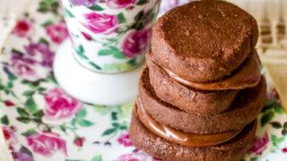 Earl Grey Ganache Chocolate Cookies- close up0