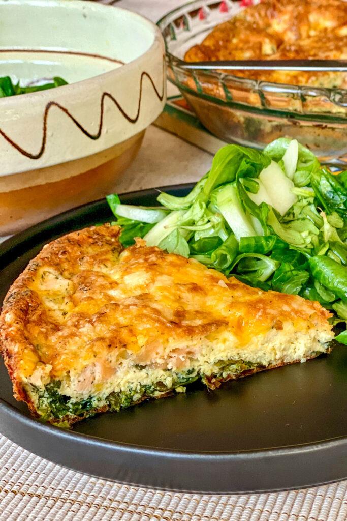 Salmon and Spinach Quiche0
