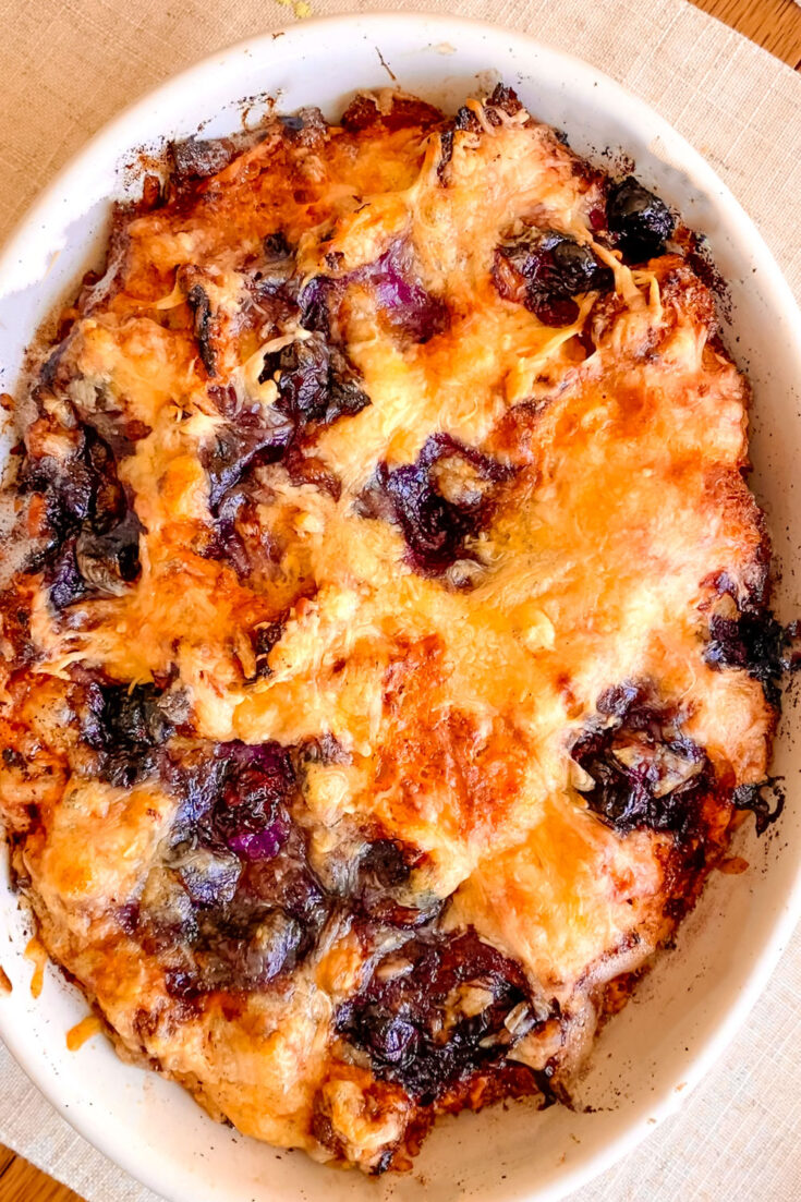 Blueberry Bread Pudding With Cheddar0