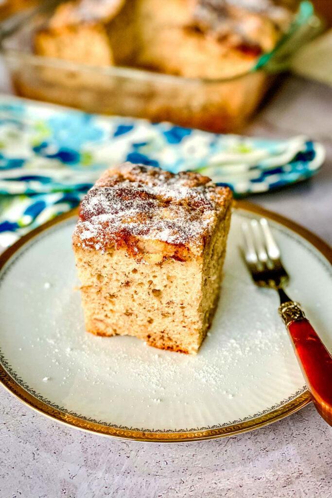 Banana Coffee Cake slice on plate0