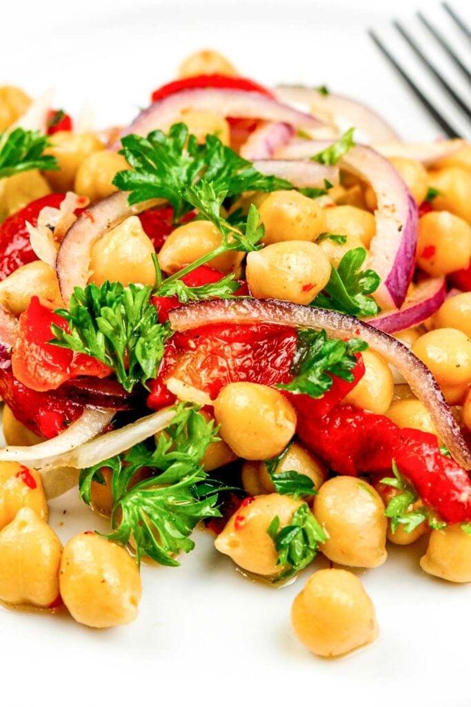 Spicy Chickpeas Salad