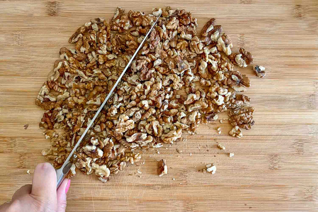Chopping walnuts0