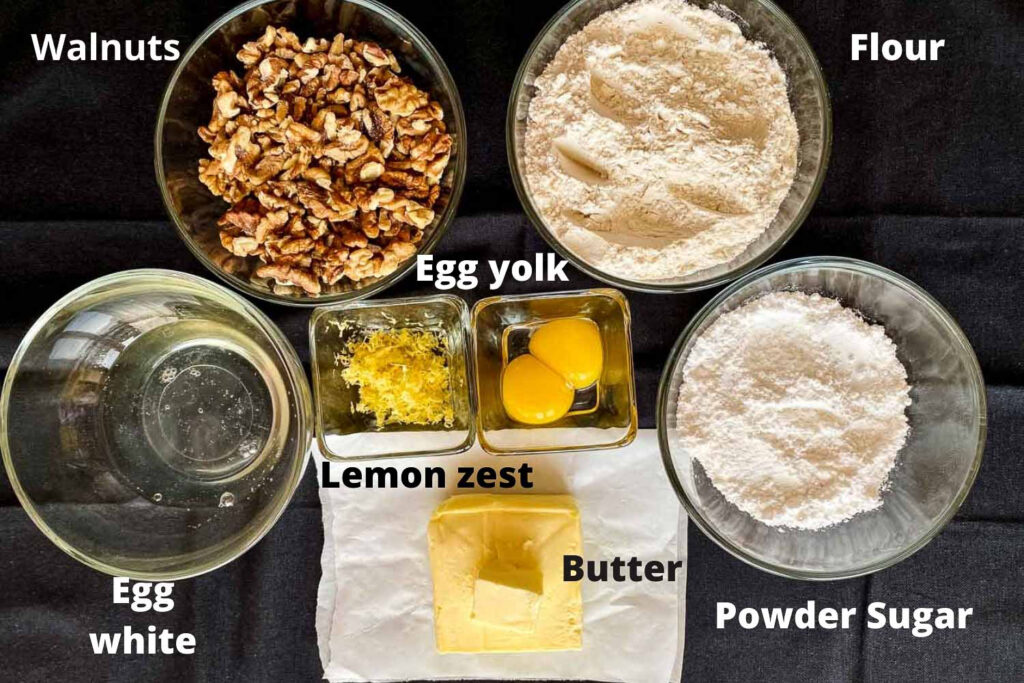 Ingredients for making the cookies110
