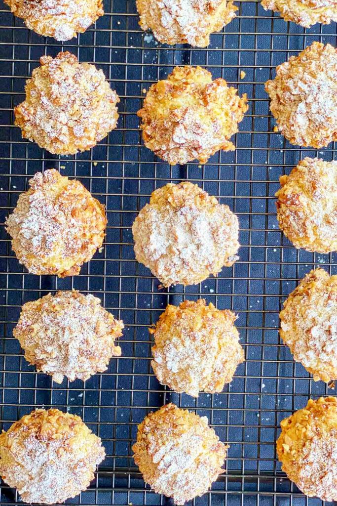 Walnut Shortbread Cookies on metal rack0 1