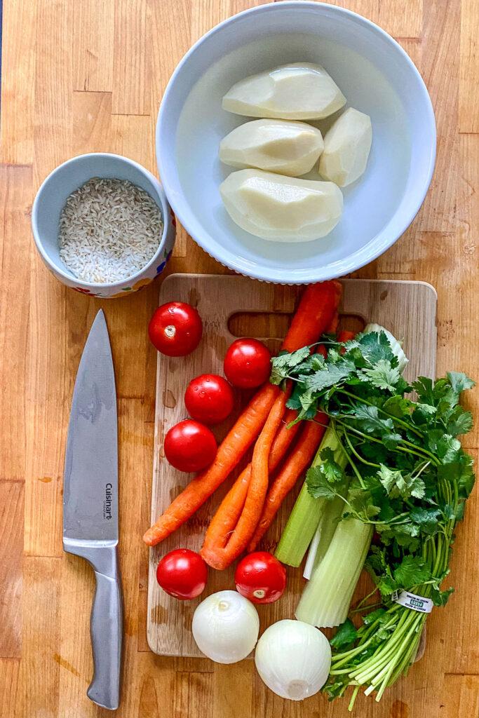 Ingredients for Caldo de PolloMexican Chicken Soup0
