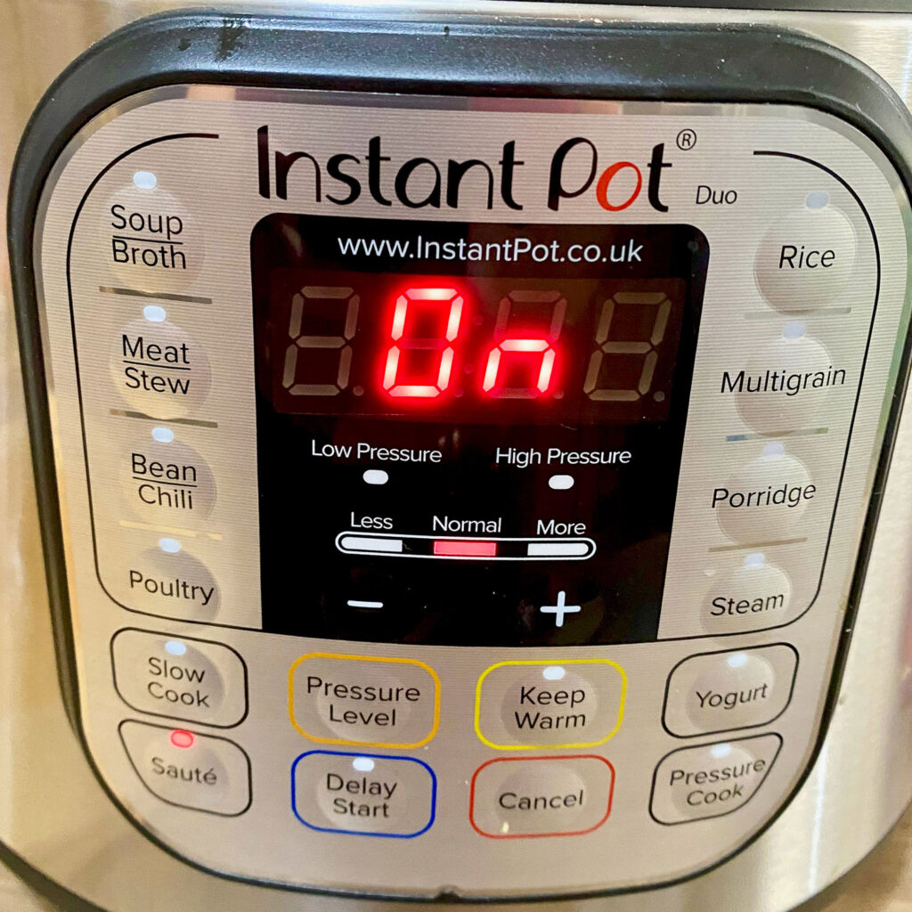 Settings for Instant Pot Saute button0
